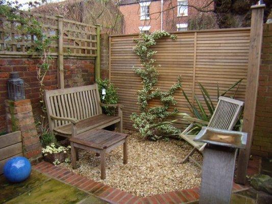 Blue bridge garden design for Small garden areas